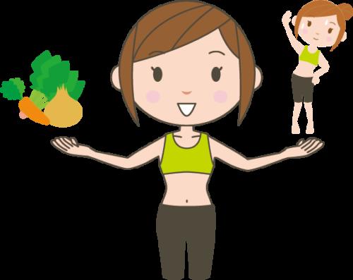 食事制限(ダイエット)と運動(エクササイズ)