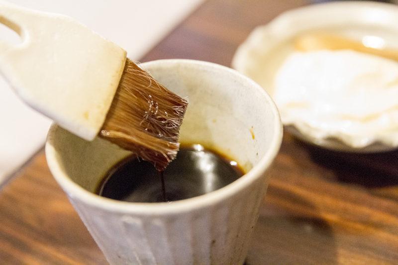 中道のネギ焼き(お好み焼き)用の醤油タレ
