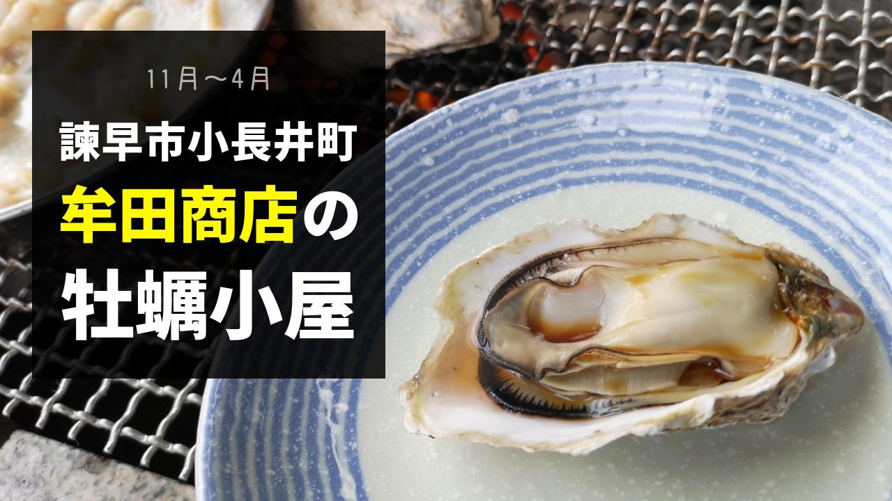牟田商店で牡蠣焼き(11月~4月)駐車場も広い!諫早市小長井町