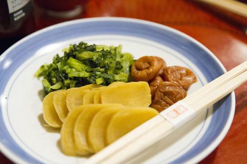 料亭春海の卓袱料理(漬物)